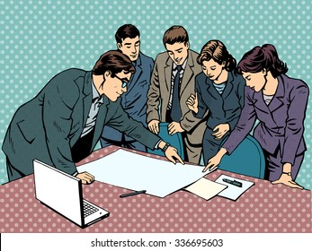 meeting brainstorming office business concept businessmen and businesswomen
