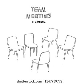A meeting has no one attending.