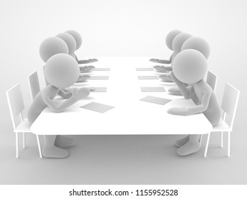 meeting room concept high quality 3d illustration