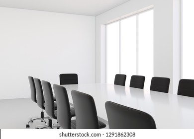 Meeting room or conference room in office building - 3D Rendering.