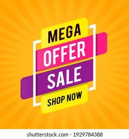 Mega Offer Sale Shop Now Banner