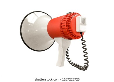 megaphone isolated on white background 3d illustration