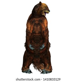 Megatherium Sloth Sitting 3D illustration - Megatherium was a herbivorous Giant Ground Sloth that lived in Central and South America during the Pliocene and Pleistocene Periods.