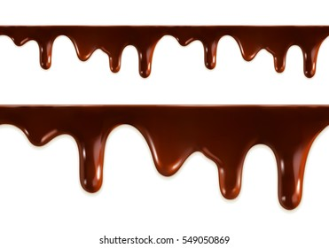 Melted chocolate seamless. Raster copy
