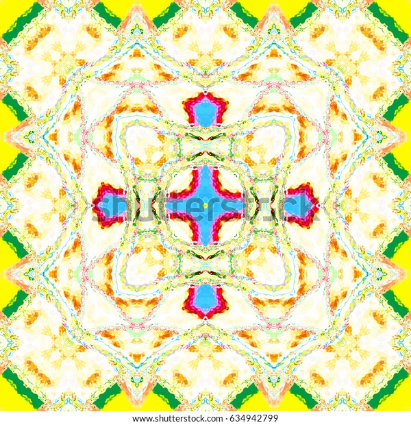 Melting colorful square pattern for textile, ceramic tiles and backgrounds