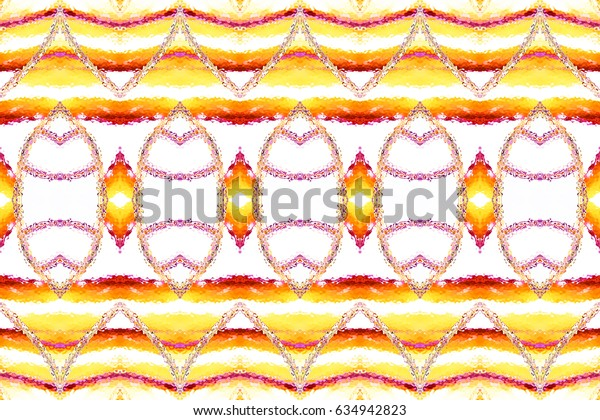 Melting colorful symmetrical horizontal pattern for textile, ceramic tiles and backgrounds