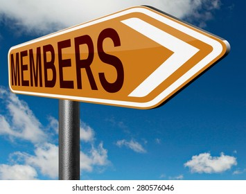 members only access membership required register now restricted area sign in now road sign arrow