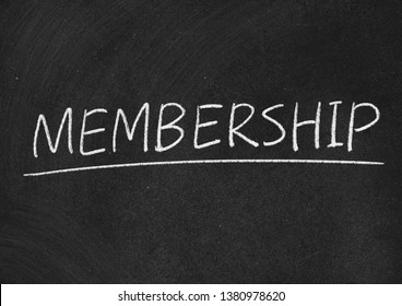 membership concept word on a blackboard background