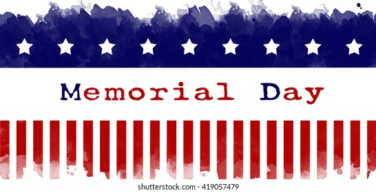 memorial day greeting card american flag grunge background