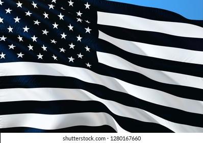 Memorial USA flag. A black and white USA flag design. Black and white United States flag. BLACK and WHITE AMERICAN FLAG, military, nascar, army, Anti Trump Protest Black Lives Matter