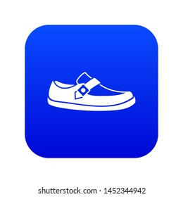 Men moccasin icon digital blue for any design isolated on white illustration