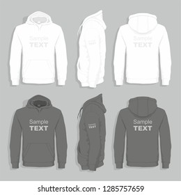 Men sweater design template (front, back views)