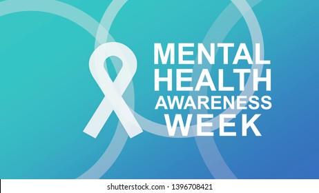 Mental Health Awareness an annual campaign highlighting awareness of mental health. Design illustration