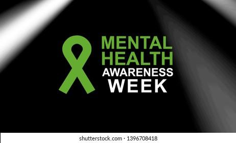 Mental Health Awareness week an annual campaign highlighting awareness of mental health.  Design illustration