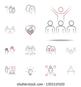 mentorship colored hand drawn icon. Team icons universal set for web and mobile