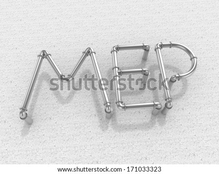 Royalty Free Stock Illustration of MEP Mechanical Electrical