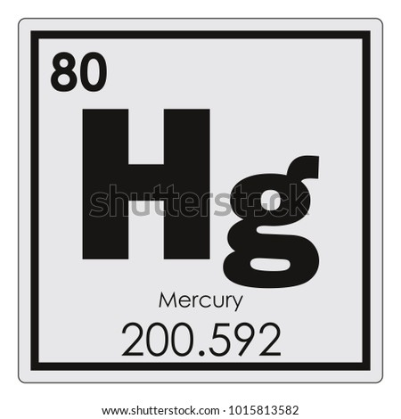 Mercury Chemical Element Periodic Table Science Stock Illustration