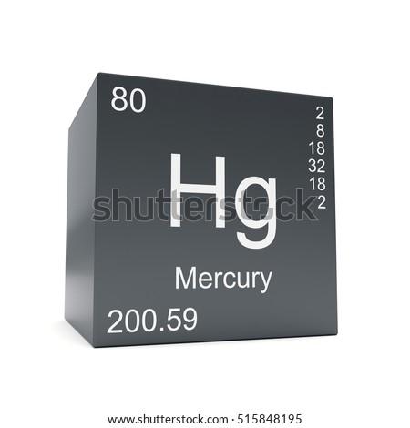 Mercury Chemical Element Symbol Periodic Table Stock Illustration