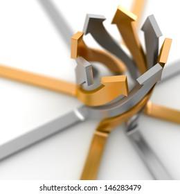 Merger arrows concept