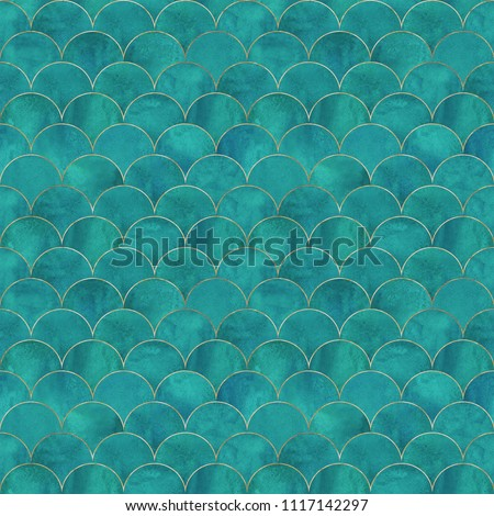 Mermaid fish scale wave