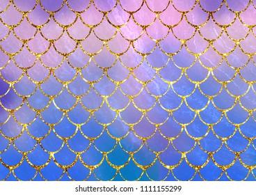 Mermaid fish scales background