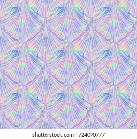 Mermaid Holographic Print  Seamless Pattern in Repeat  Seamless Pattern in Repeat