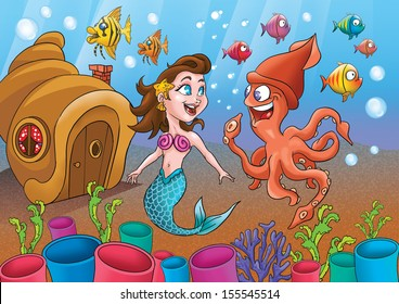 MERMAID and sea life II