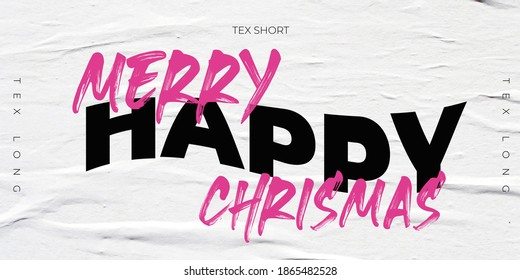 Merry CHRISMAS  slogan for flyer and graphic element