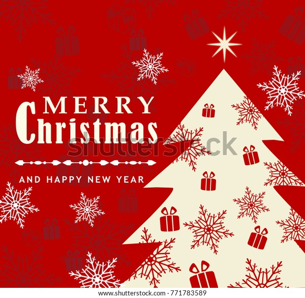 Christmas Card Letter Ideas.Merry Christmas Card Happy New Year Stock Illustration 771783589