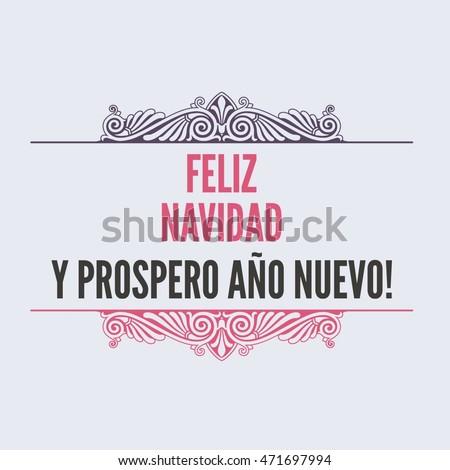 Merry christmas card template greetings spanish stock illustration merry christmas card template with greetings in spanish language feliz navidad y prospero ano nuevo m4hsunfo