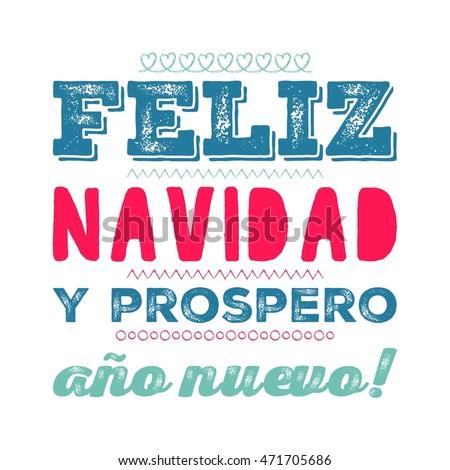 merry christmas card template greetings spanish stock illustration
