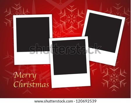 Merry Christmas Card Templates Blank Photo Stock Illustration
