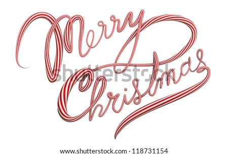 merry christmas cursive isolated text
