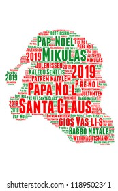 merry christmas in different languages word cloud 2019 - Merry Christmas In Different Languages List