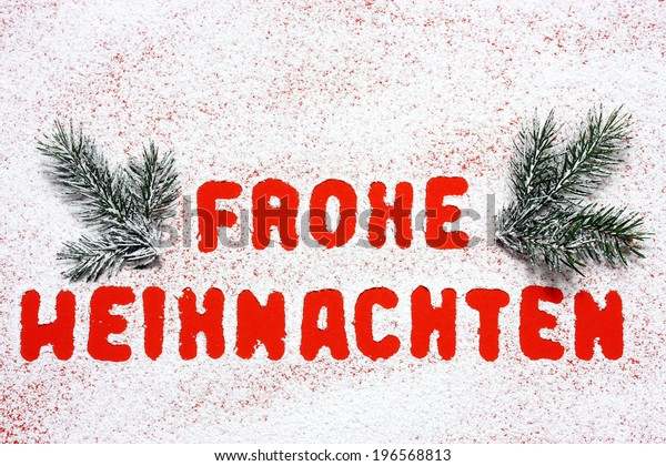 How Do You Say Merry Christmas In German.Merry Christmas German Language Stock Illustration 196568813