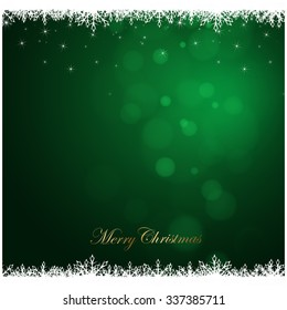 Merry Christmas green background, holiday season concept