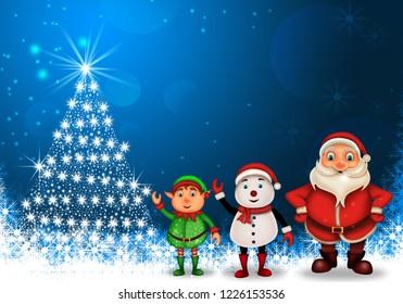 Merry Christmas happy christmas,santa with rendeer