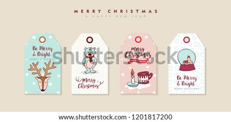 Merry Christmas Happy New Year Hand Stock Illustration 1201817200