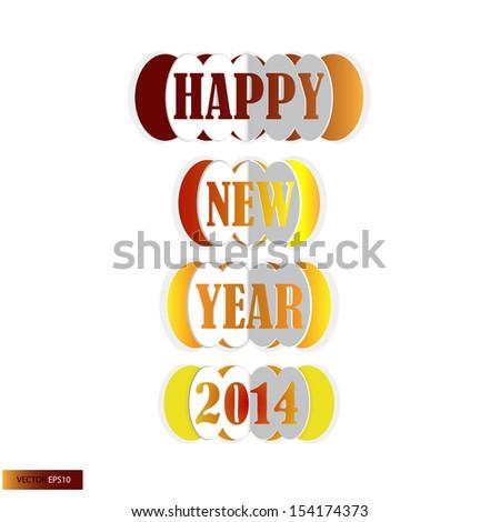 Merry Christmas Happy New Yearのイラスト素材 154174373 Shutterstock