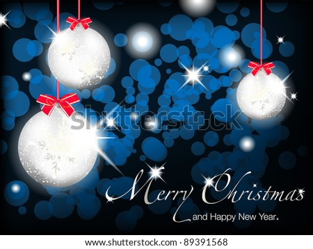 merry christmas and happy new year background for greetings card