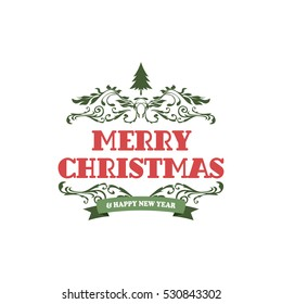 merry christmas label christmas badge theme stock vector royalty