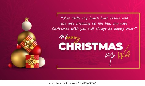 Merry Christmas My Wife Wishes