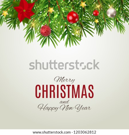 merry christmas and new year background illustration