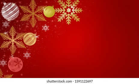 Merry Christmas and New Year red winter background
