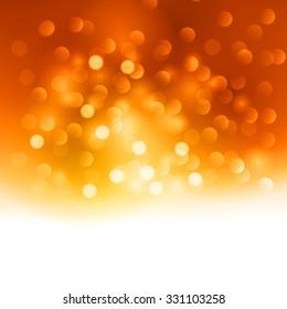 Merry Christmas orange  light background.