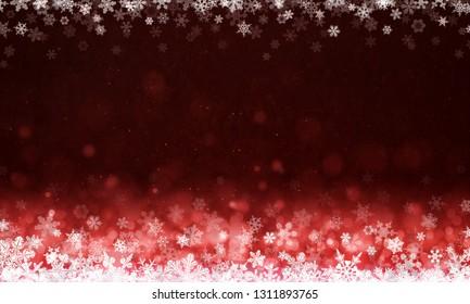 Merry Christmas -  snowflakes background ( xmas , holiday )