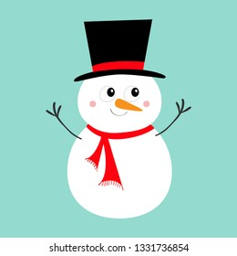 9927398921cb7 Merry Christmas. Snowman icon. Carrot nose
