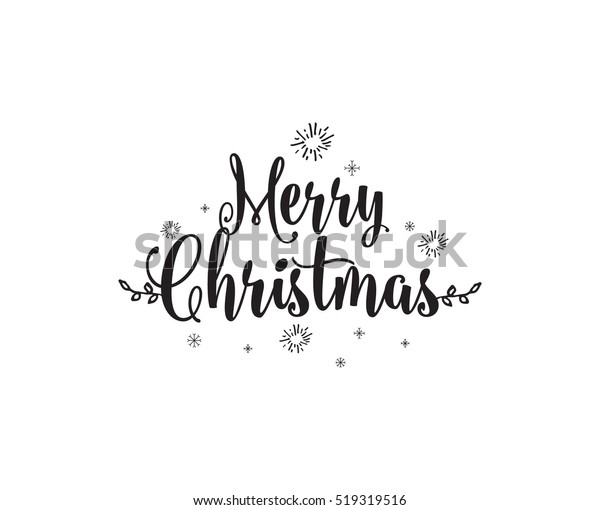 Merry Christmas Text.Merry Christmas Text Design Logo Typography Stock