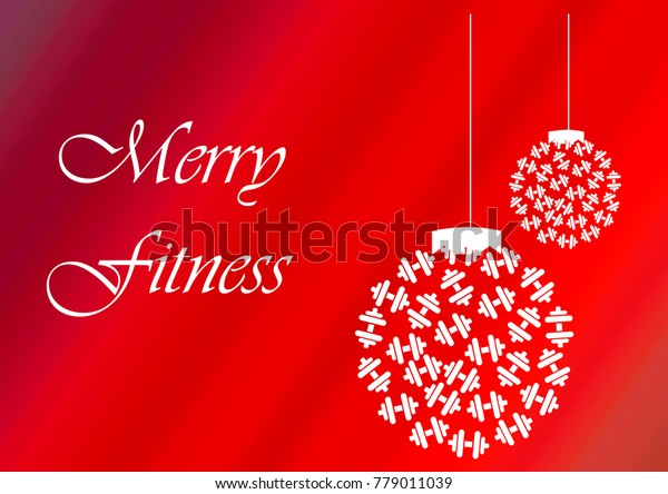 Merry Fitness Christmas Happy New Year Stock Illustration