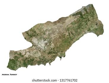 Mersin, Turkey Map (3D illustration)